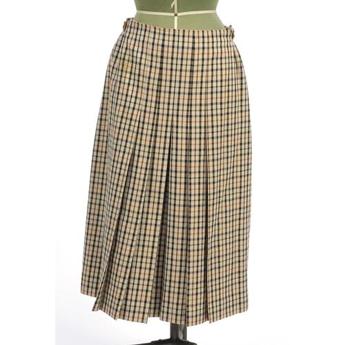 986 - 1970's Daks tartan design skirt suit, size 32 and 35...