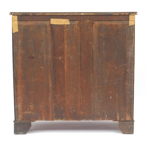 2001 - Victorian mahogany six drawer chest, 120cm x 121cm W x 51cm D...