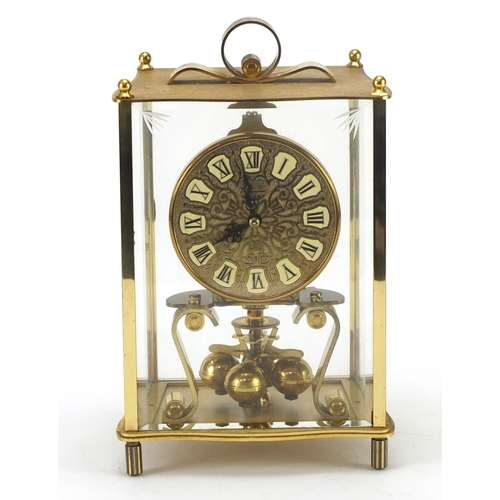 2088 - German four hundred day Anniversary clock by Kundo with box, 22.5cm high...