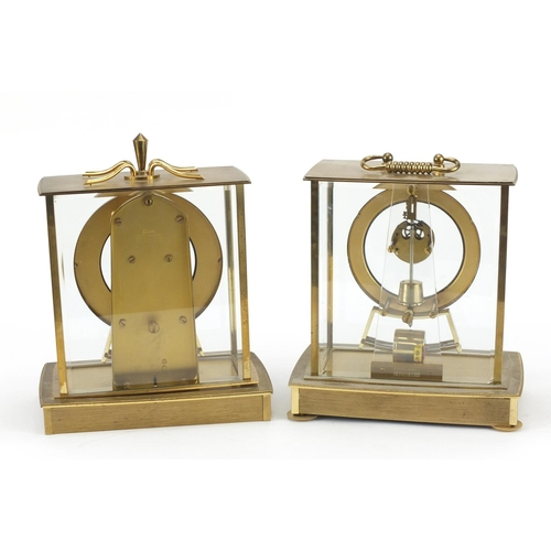 2047 - Two Kundo electronic mantel clocks with Arabic numerals, the largest 24cm high...