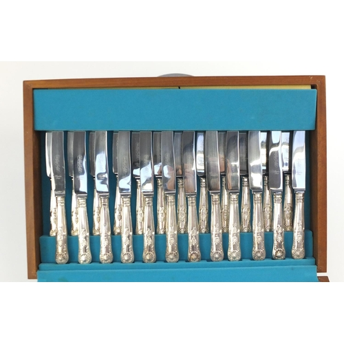 2014 - Twelve place canteen of Sheffield silver plated cutlery, 46cm wide...