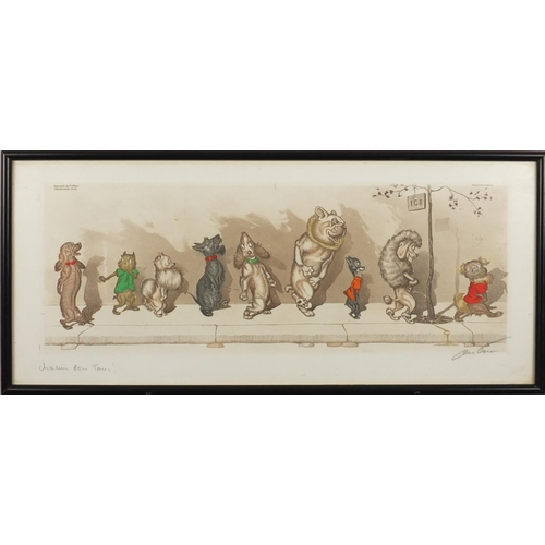 2075 - Boris O'Klein - Comical dogs, pair of pencil signed prints in colour, framed, each, 49cm x 21cm...