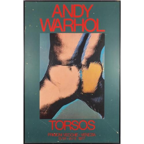 2121 - Andy Warhol - Torsos, print in colour, framed, 98cm x 67cm...