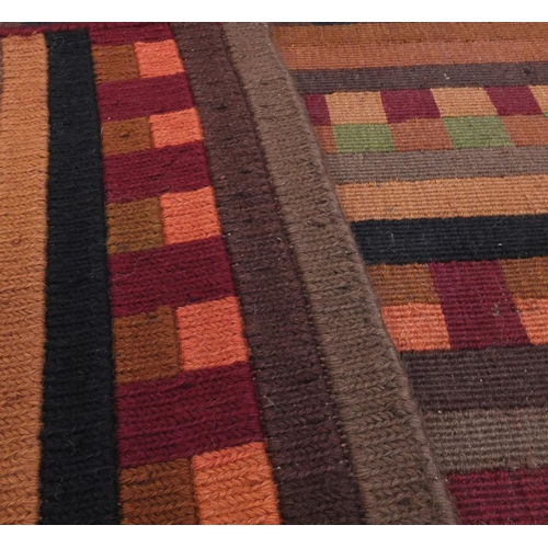 2029 - Turkish Soumac porter pattern rug, 152cm x 93cm...