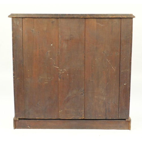 3 - Victorian mahogany six drawer chest fitted with two short above four long graduated drawers, 132cm H...