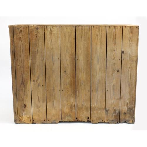 26 - Victorian pine two door cupboard, 100cm H x 125cm W x 49cm D...
