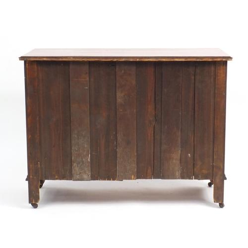 13 - Edwardian walnut four drawer chest, 79cm H x 105cm W x 45cm D...