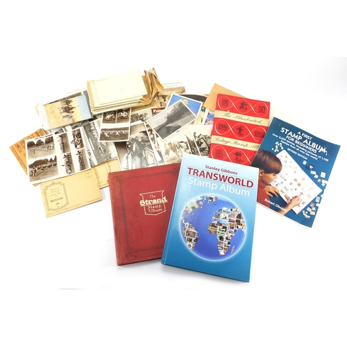 957 - World stamps and postcards, some photographic...