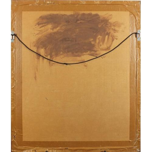 1198 - After Lyubov Sergeyevna Popova - Cubist head, pencil on paper, mounted and framed, 49cm x 39cm...