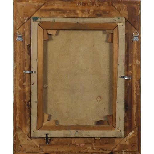 1174 - Seated sailor, oil onto canvas, bearing a signature D O'Neill, framed, 45cm 34cm...