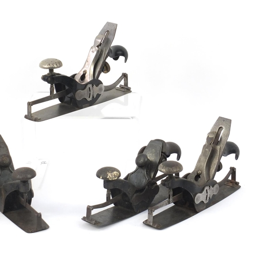 180 - ** DESCRIPTION AMENDED 8/5 ** Five vintage Stanley rule and level wood working planes including four...
