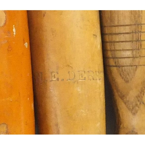207 - Vintage wood carving chisels and gouges, some with boxwood handles, including G W Popple, Stormont a...