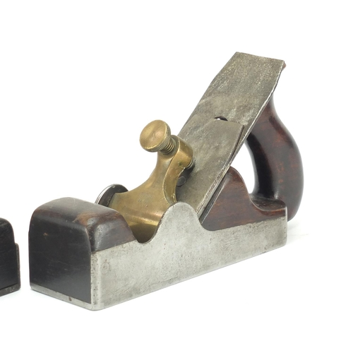 158 - Two 19th century wood working planes including Spiers Ayr and one ebony...