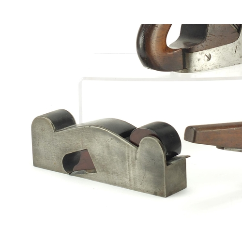 159 - Three 19th century wood working planes including one rosewood...