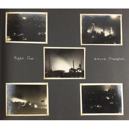 294 - Good collection of Chinese black and white photographs relating to The Battle of Shanghai, including...