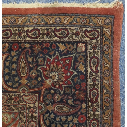2003 - Very fine Turkish Sivas carpet, having all over stylised floral motifs onto midnight blue and red gr...