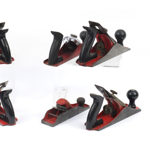 186 - Eight vintage Rapier wood working planes comprising four No.500, one No.450, one No.600 and one No.7...