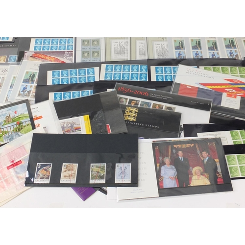 2832 - Predominantly British mint unused stamps, some presentation packs and booklets of first class, vario...