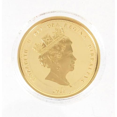 2787 - Elizabeth II 2018 Coronation gold five pound coin...