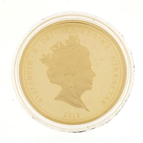 2788 - Elizabeth II 2018 Coronation gold double sovereign...