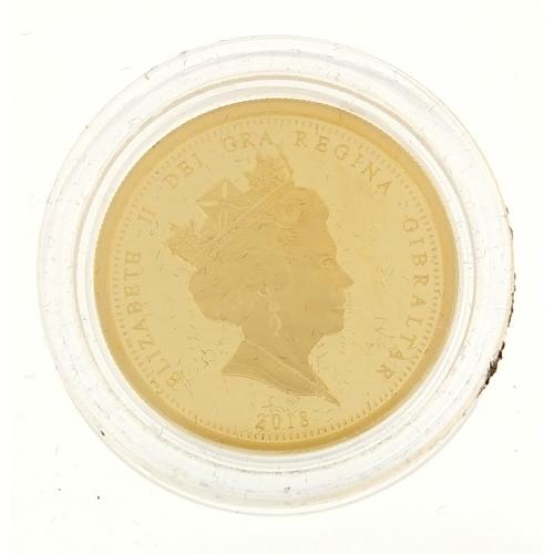 2789 - Elizabeth II 2018 Coronation gold sovereign...