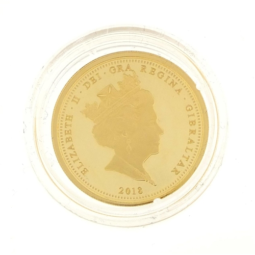 2790 - Elizabeth II 2018 Coronation gold half sovereign...