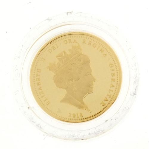 2791 - Elizabeth II 2018 Coronation gold quarter sovereign...