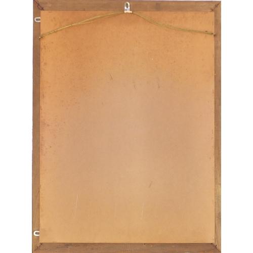 2050 - Rectangular Venetian hanging mirror with ornate gilt metal mounts, 81cm x 60.5cm...