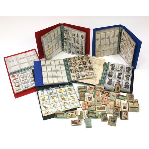 2825 - Collection of vintage cigarette cards and Royal Observer Corps recognition cigarette cards including...
