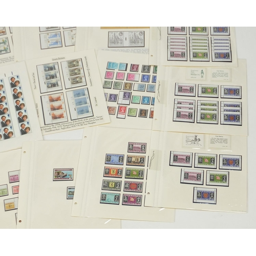 2831 - Predominantly United Kingdom and Jersey mint unused stamps including booklets, various genres and de...