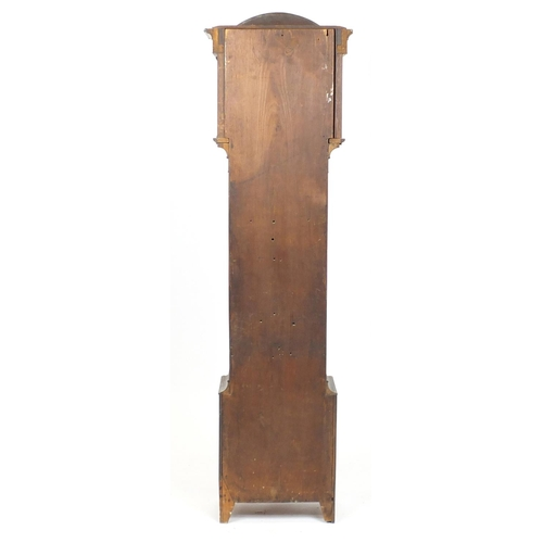 2004 - 19th Century Scottish mahogany eight day long case clock, with second and date dials, the dial inscr...