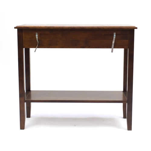 47 - Laura Ashley console table fitted with a frieze drawer above an under tier, 81cm H x 89cm W x 35cm D...