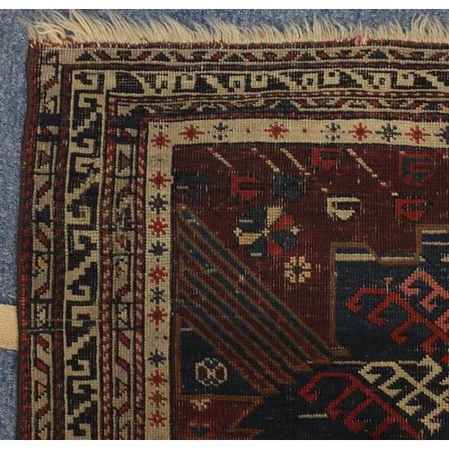 2046 - 19th century Rectangular Caucasian rug, 198cm x 126.5cm...