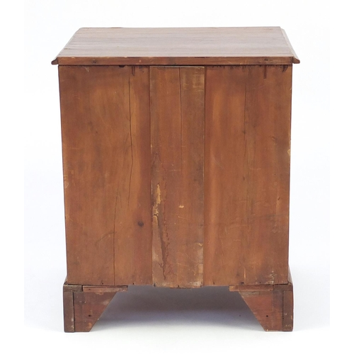 16 - Gerogian oak eight drawer chest with brass handles and bracket feet, 75cm H x 61cm W x 48cm D...