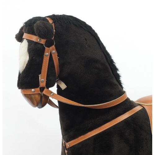 15 - Mamas & Papas upholstered rocking horse, 110cm high...