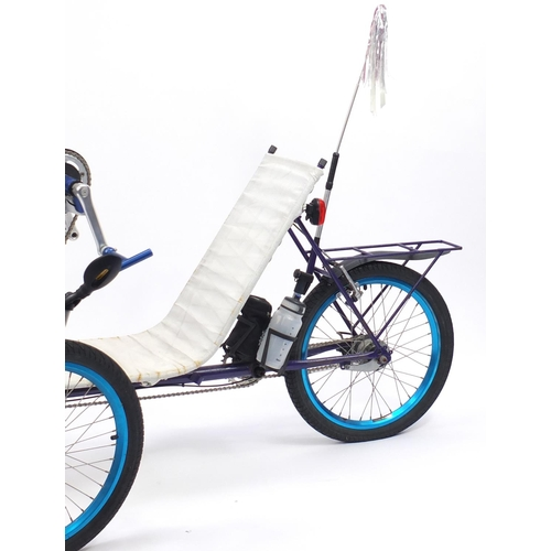 24 - Custom built hand cranked trike...