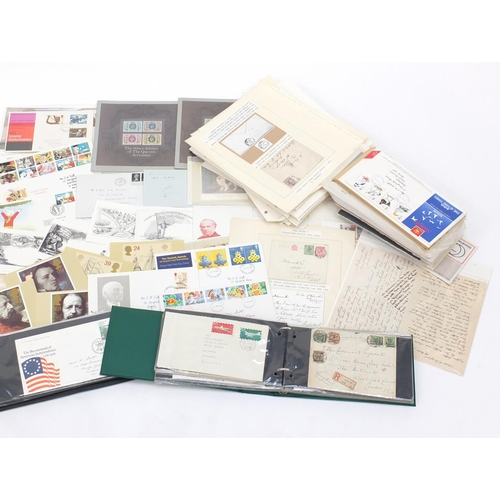 649 - Large collection of World stamps, first day covers and postcards...