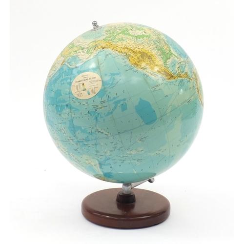 2058 - Philips 19inch terrestrial globe, 60cm high...