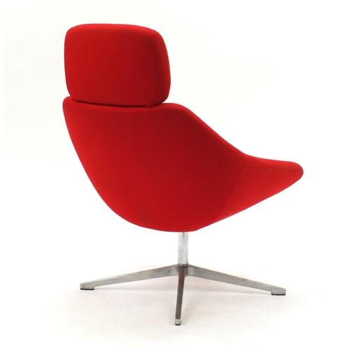 2020 - Allermuir open lounge chair model A641, 101cm high...