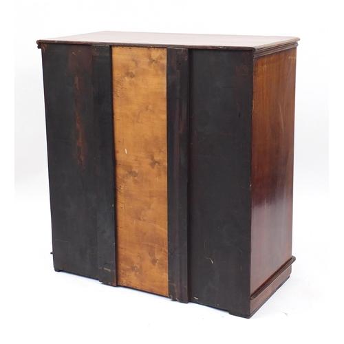 2 - Victorian mahogany five drawer chest, 104cm H x 100cm W x 48cm D...
