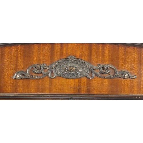 17 - Edwardian mahogany china cabinet with pair of glazed doors enclosing three shelves, 170cm H x 91cm W...