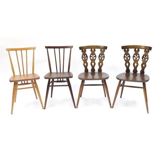 58 - Four Ercol chairs including two model 391 examples...