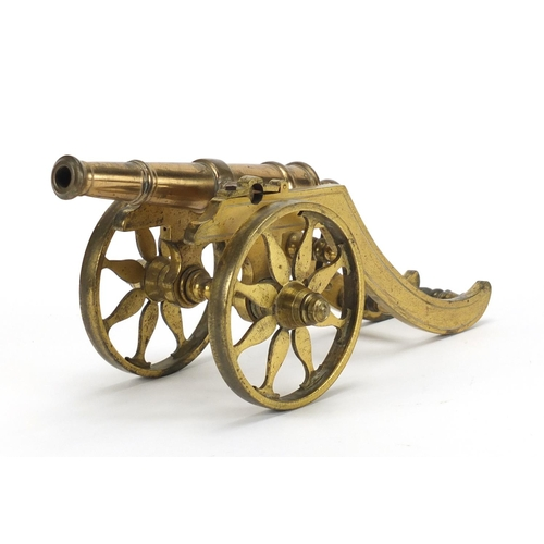 6 - Georgian bronze table cannon, 25.5cm in length...
