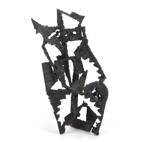 490 - Ilhan Koman 1921-1986 (Turkish-Swedish), modernist iron sculpture, untitled, 58cm high (PROVENANCE: ...