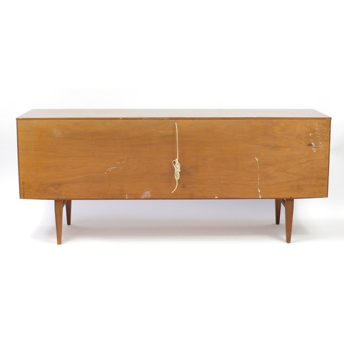 2053 - Bautility sideboard fitted with four drawers, a pair of cupboard doors and central fall, 77cm H x 18...