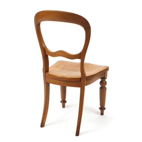2045 - Railway interest Bristol and Exeter Oak boardroom chair, 90cm high...