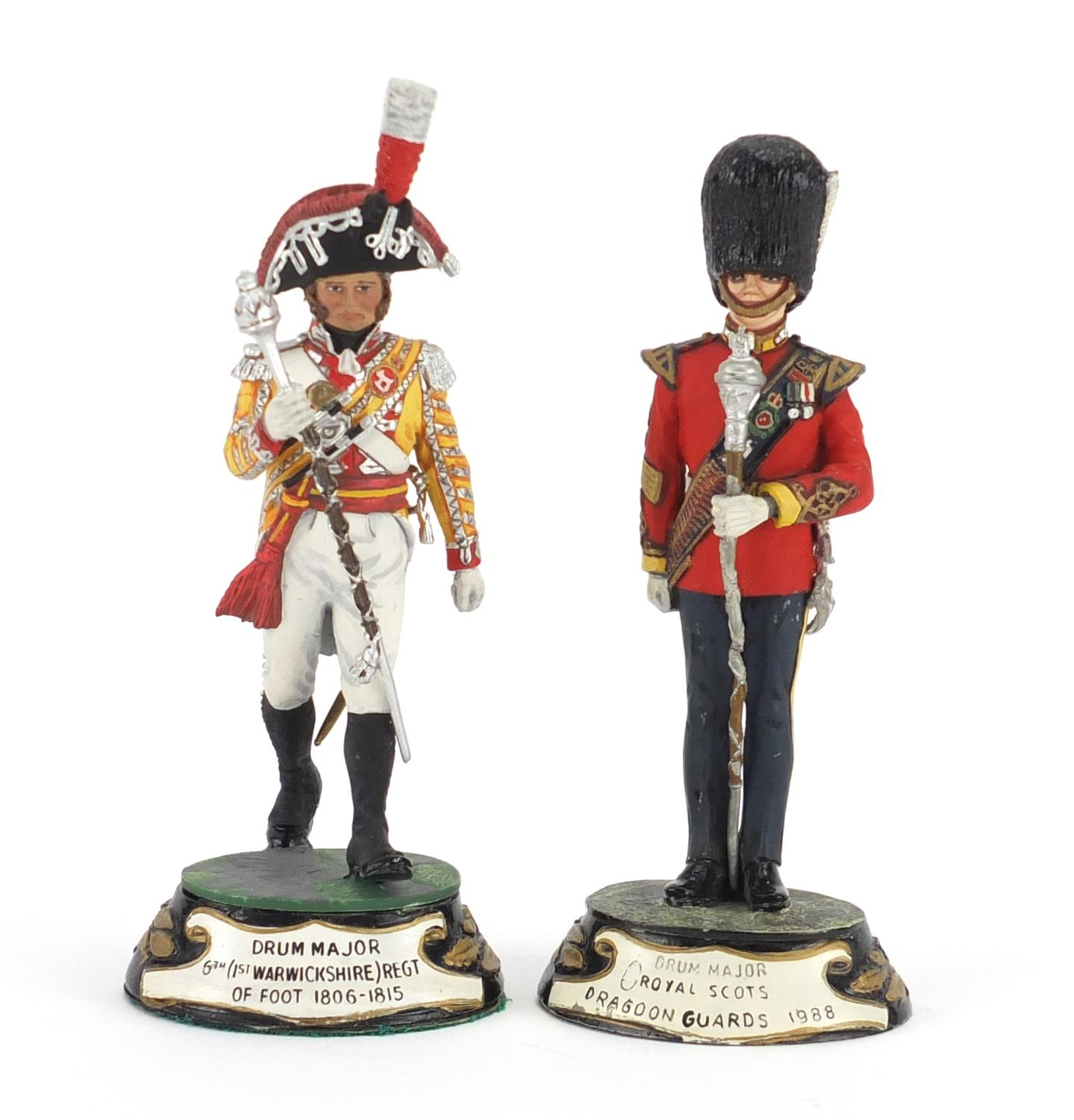 Two hand painted pewter Military figures by Charles Stadden