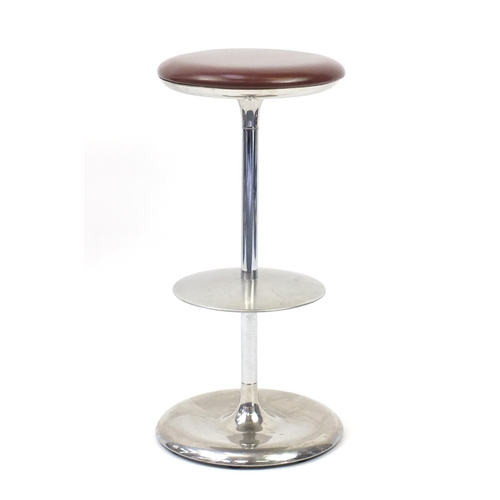2051 - Plank Frisbi bar stool, designed by Biagio Cisotti and Sandra Laube, 81cm high  ( retails at £795)...