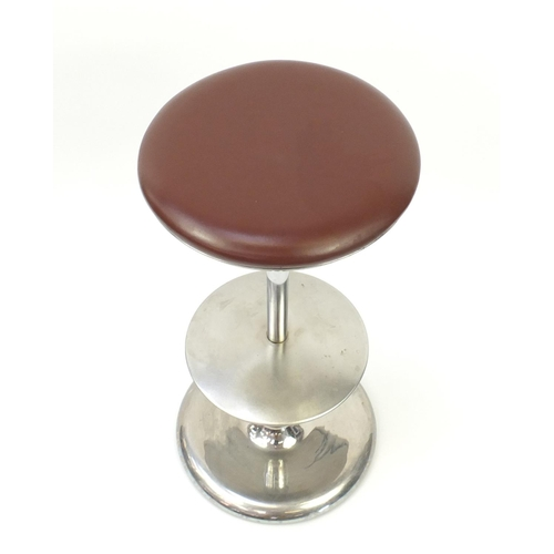 2052 - Plank Frisbi bar stool, designed by Biagio Cisotti and Sandra Laube, 81cm high ( retails at £795)...