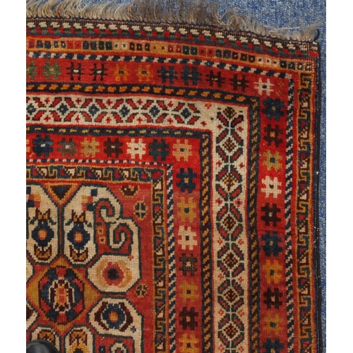 2014 - Rectangular Persian Kashgan rug, having and all over stylised design, 214cm x 138cm...